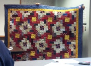Charity quilt in Sandy Cagles name